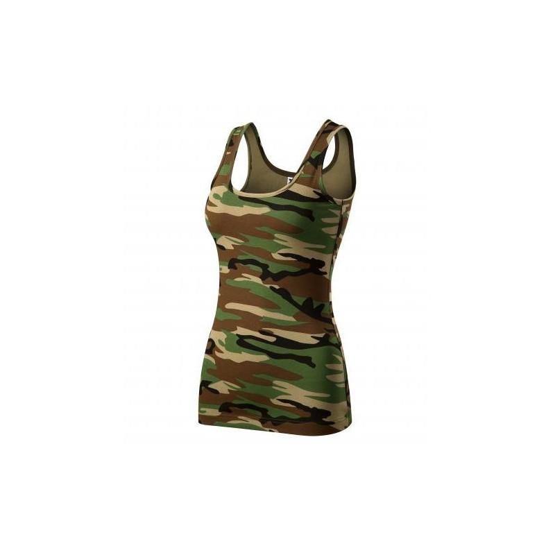 Adler women camouflage top, Triumph, camo brown