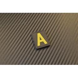 """Velcro sign, """"Letter A"""" 3D"""