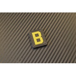 """Velcro sign, """"Letter B"""" 3D"""