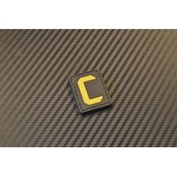 """Velcro sign, """"Letter C"""" 3D"""