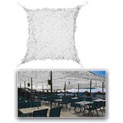 White Shade sail, 3x3m, camo net