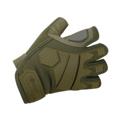Kombat Alpha Fingerless Tactical Gloves - Coyote tan