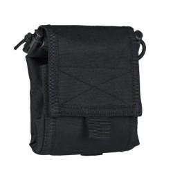 Tühjade salvede tasku, volditav, must