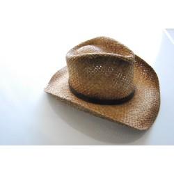 Соломенная шляпка, коричневый