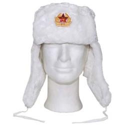 Русский Мех крышки зимы, белый, с значком