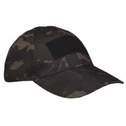 Mil-tec Tactical baseball cap, Multitarn black