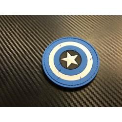 "Velcro sign, ""Captain America"" 3D, blue"