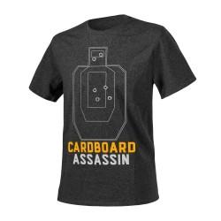 "Футболка ""Cardboard Assassin"", Melange Black-Grey"