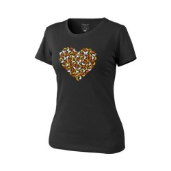Женская футболка Helikon «Chameleon Heart» - черный