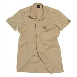 Mil-tec short sleeve service shirt, khaki