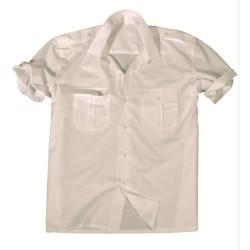 Mil-tec short sleeve service shirt, white