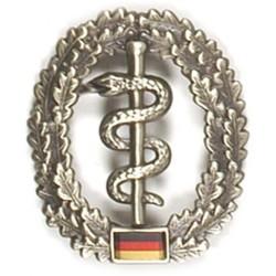 Metal Bundeswehr beret crest, Sanitäter