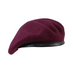 British army style beret, Maroon
