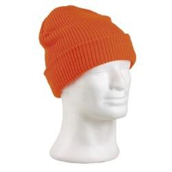 Зимняя шапка, акрил, оранжевый