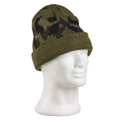 Зимняя шапка, акрил, camo