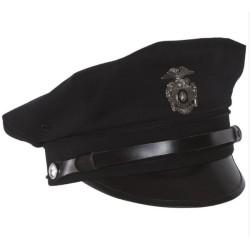 US Politsei peakate, märgiga, must