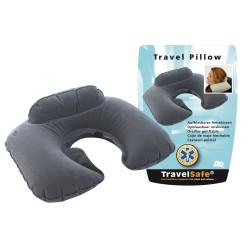 TravelSafe, надувная подушка для путешествий, серая