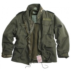 US Style M65 Vintage Field Куртка со съемным вкладышем, оливкового цвета