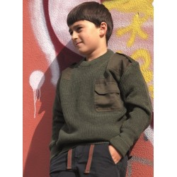 Laste Commando sviiter, oliivroheline