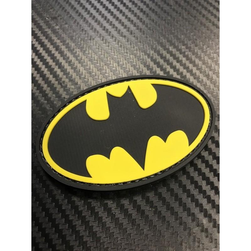 "Velcro märk ""Superman"" 3D, must/kollane"