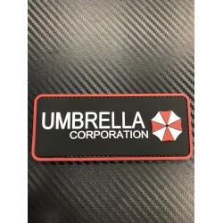 """Velcro märk """"Umbrella Corp"""" 3D, must/valge/punane"""