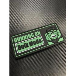 """Velcro märk """"Hulk Mode"""" 3D, must"""