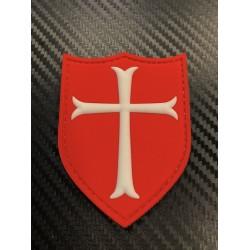 "Velcro sign, ""Crusader Cross"" 3D, red"