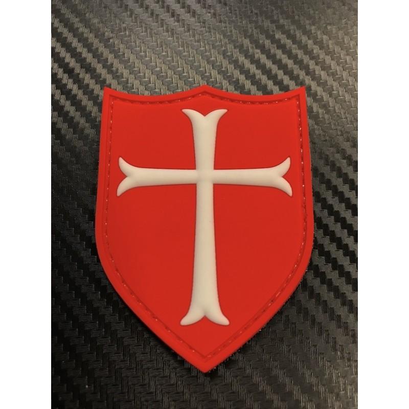 """Velcro märk """"Crusader Cross"""" 3D, punane"""