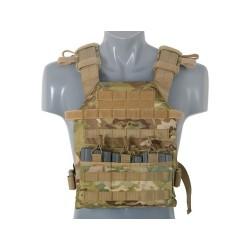 Assault plaadikandja vest koos treeningplaatidega, Multicamo