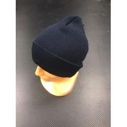 Watch Cap, blue, fine knitted, acryl