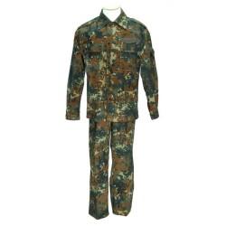 Genuine German field jacket and pants, flecktarn