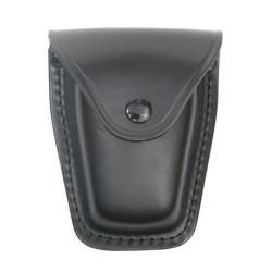 Кожаные наручники чехол, Deluxe, черный