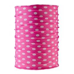 AB multifunctional headgear, tubular scarf, pink/white