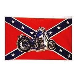 "Флаг ""Confederate flag with bike"", 90x150 см"