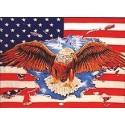 "Lipp ""United States with Eagle"" 90x150cm"