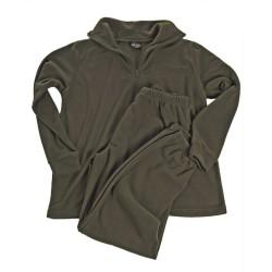 Thermofleece underwear with zipper, olive green