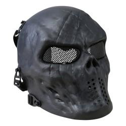 Kombat Skull Mesh Mask, black