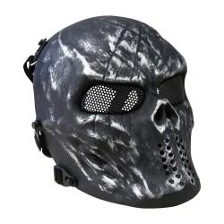 Kombat Skull Mesh Mask, Gun Metal Grey