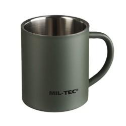 Mug, double walled, 300 ml, olive green