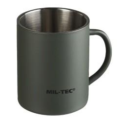 Mug, double walled, 450 ml, olive green