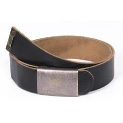 German army leather belt 110cm, black